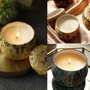Soy Aromatherapy Candle - Aztec Cross