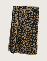Barefoot Dreams CozyChic In the Wild Throw - Camel/Black