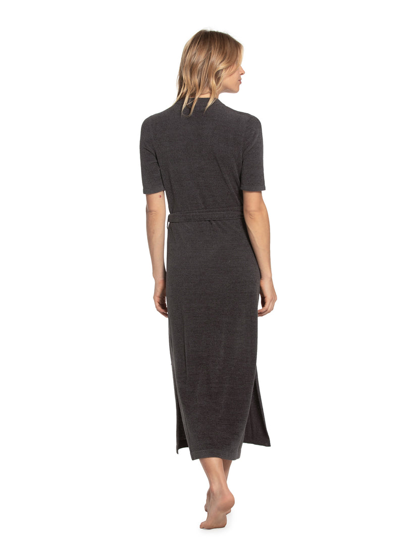 Barefoot Dreams CozyChic Ultra Lite Wrap Dress - Carbon