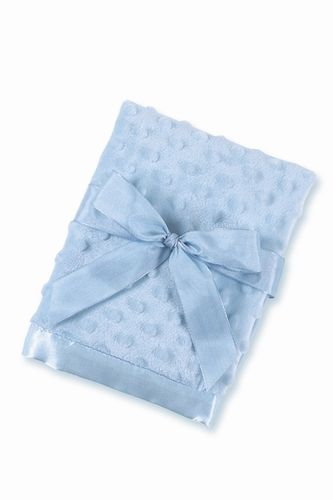 Blue Mini Minky Blanket - Personalization Available