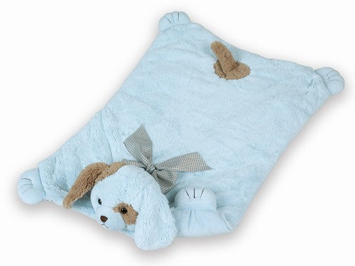 Belly Blanket - Blue Puppy