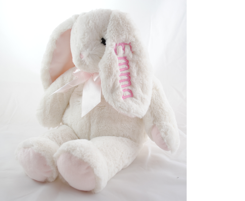 Personalized Floppy Eared Bunny - Pink