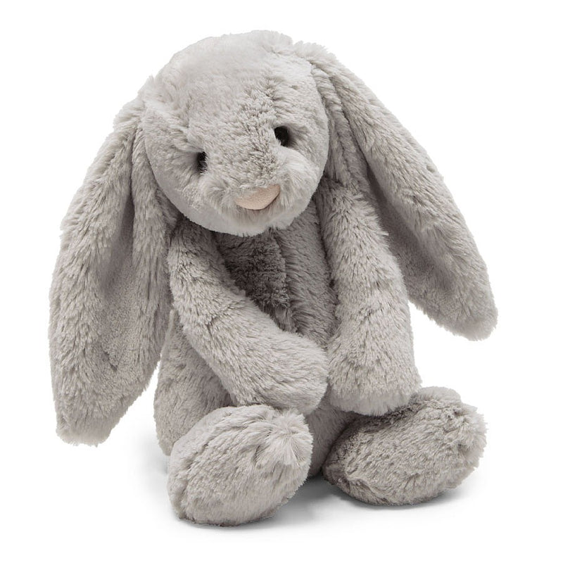 "JellyCat Medium 12"" Bashful Bunny in Grey"