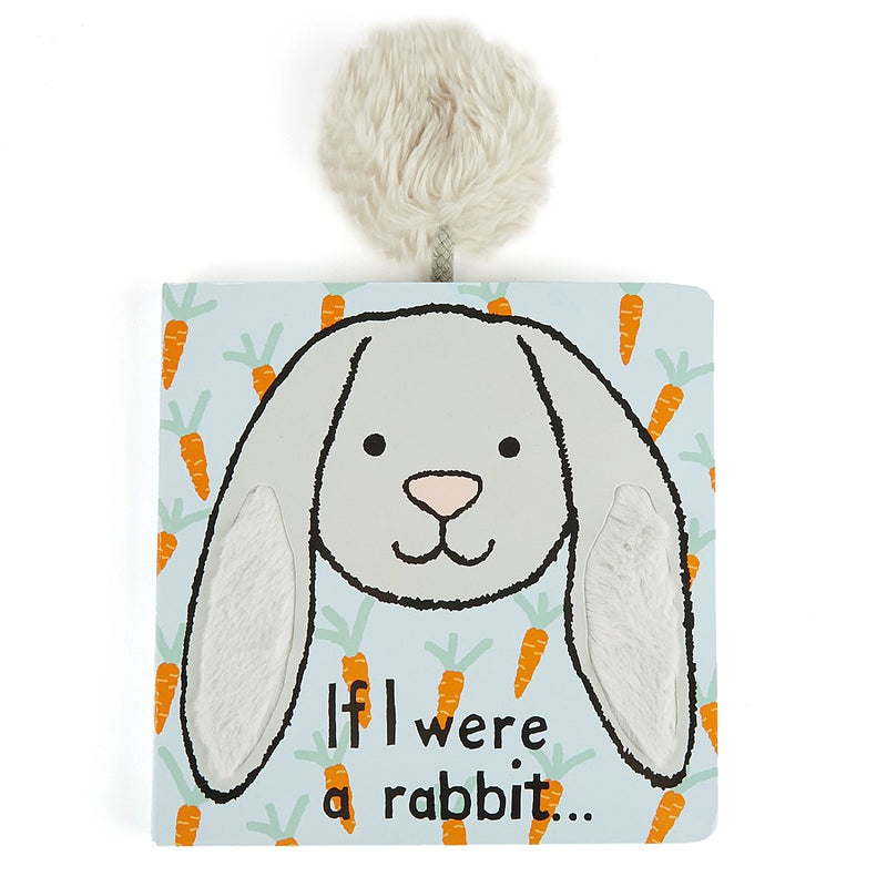 JellyCat If I Were A Rabbit Book Grey