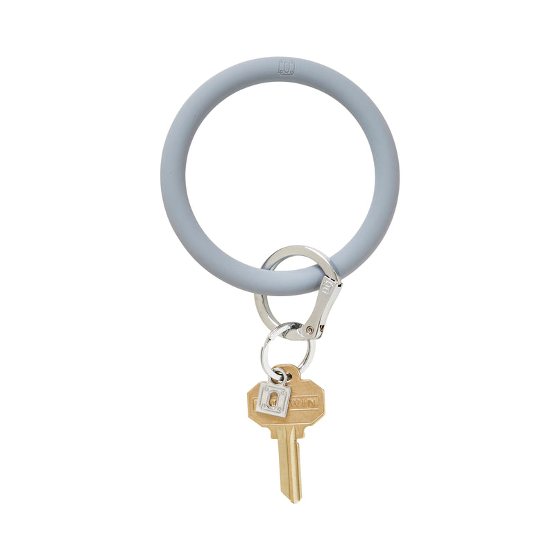Silicone Big O Key Ring - Solid London Fog