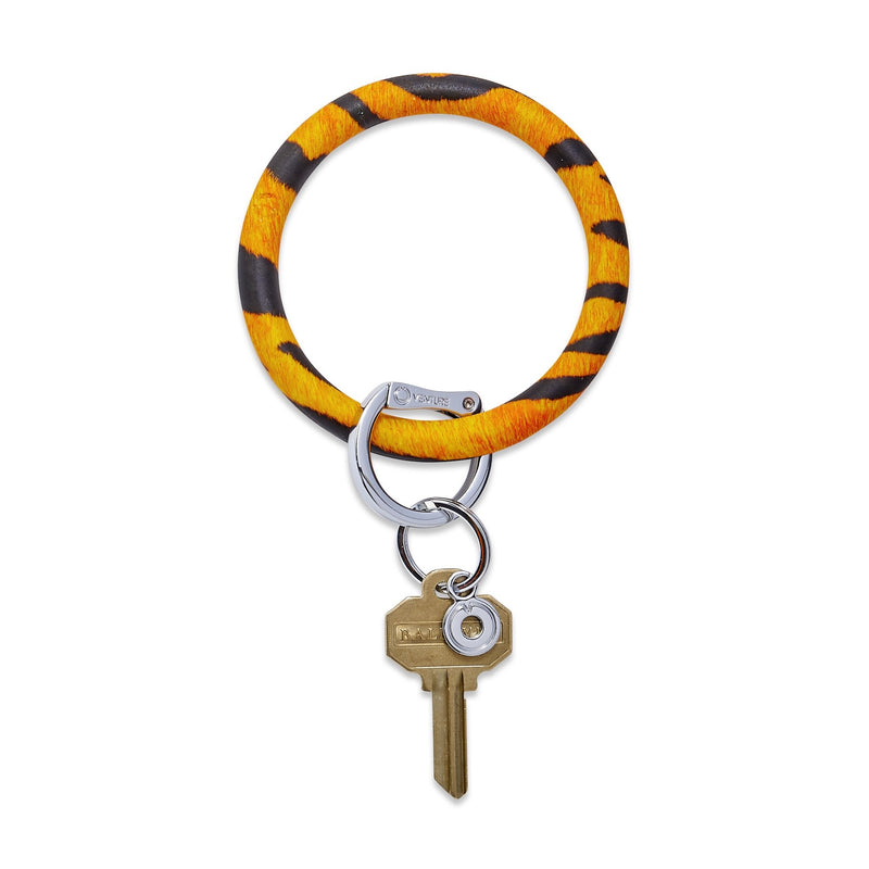 Silicone Big O Key Ring - Tiger