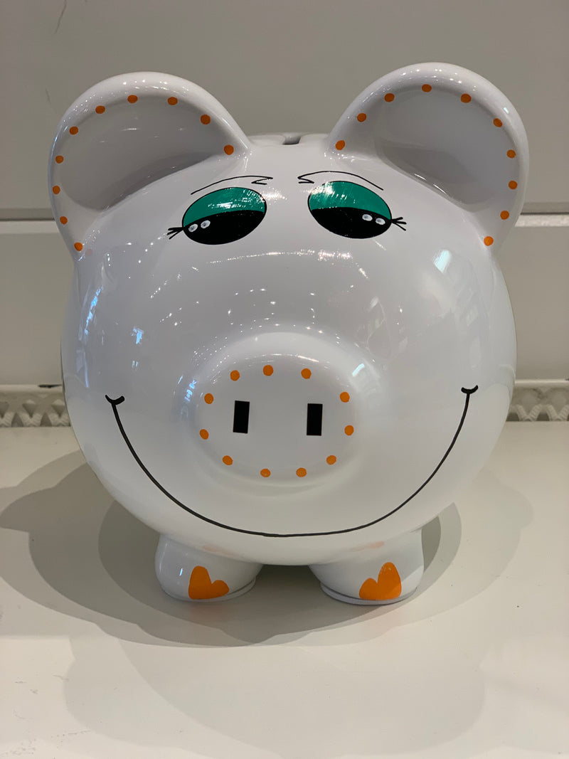 Hand-Painted Personalized Piggy Bank - Jungle Animals