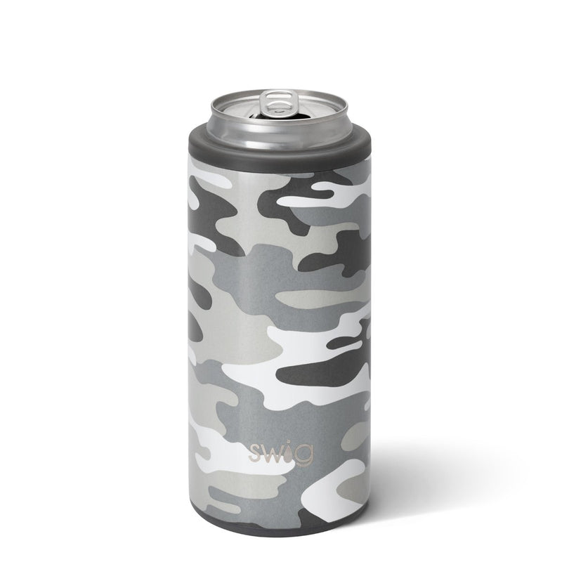 Swig Life Skinny Can Cooler - Incognito Camo