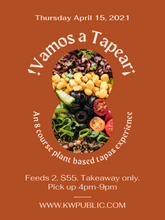 Load image into Gallery viewer, Thursday Plant Based Tapas Box for Two (April 15th)