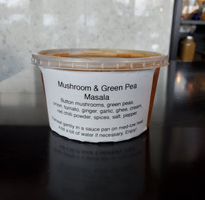 Take-Home Mushroom & Green Pea Masala (375 mL)