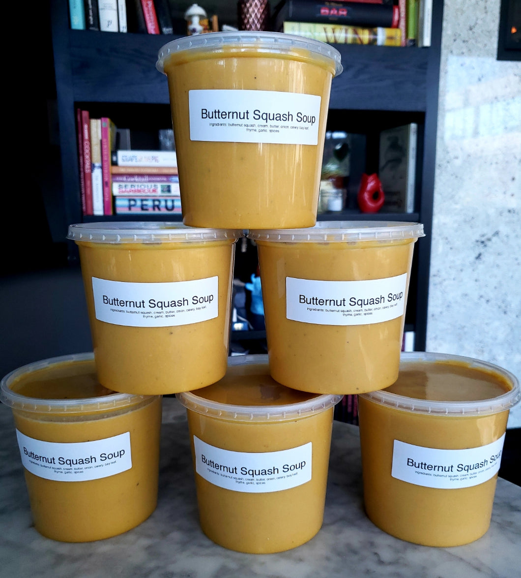 Take-Home Butternut Squash and Chick Pea Soup (750 mL)