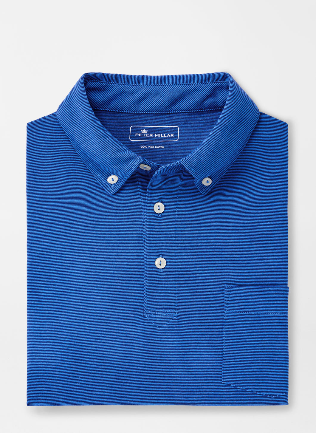 Peter Millar Shark Island Aqua Cotton Polo - Lazuline