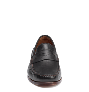 Men's Trask Sadler Loafers - Black Sheepskin