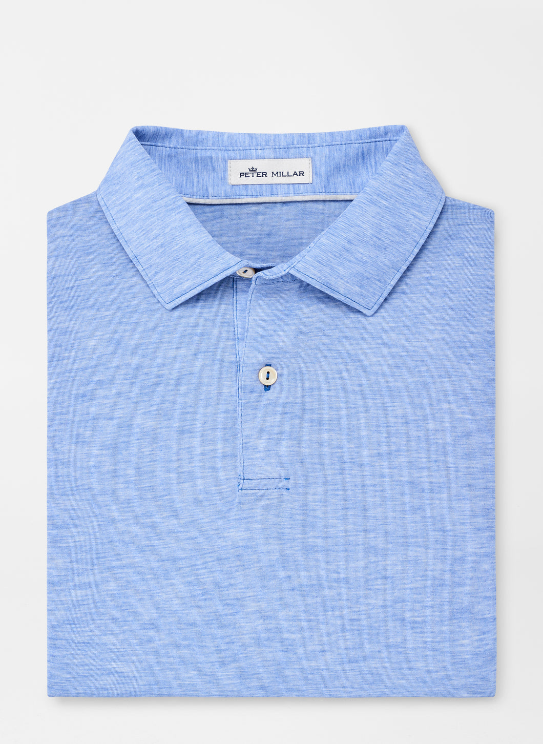 Peter Millar drirelease® Natural Touch Mélange Polo - Blue Lapis