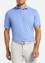 Load image into Gallery viewer, Peter Millar drirelease® Natural Touch Mélange Polo - Blue Lapis