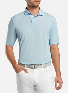 Peter Millar drirelease® Natural Touch Mélange Polo - Cottage Blue