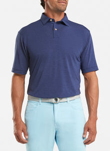 Peter Millar drirelease® Natural Touch Mélange Polo - Navy