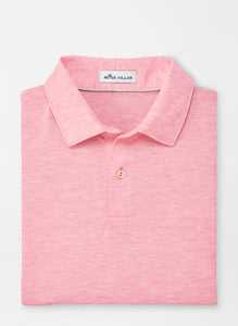 Peter Millar drirelease® Natural Touch Mélange Polo - Red Ginger