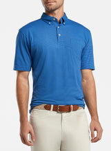 Load image into Gallery viewer, Peter Millar Shark Island Aqua Cotton Polo - Lazuline