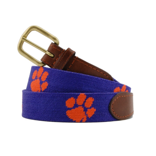 Smather's & Branson Clemson Needlepoint Belt