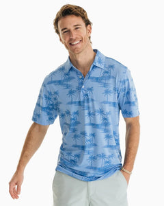 Southern Tide Palm Print Driver Performance Polo Shirt