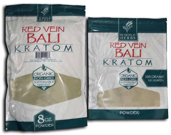 Whole Herbs Red Vein Bali Kratom Power