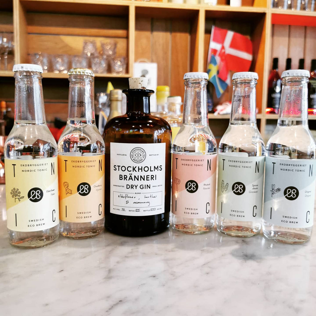Stockholm Bränneri Dry Gin and a Taster of 5 Nordic Tonics
