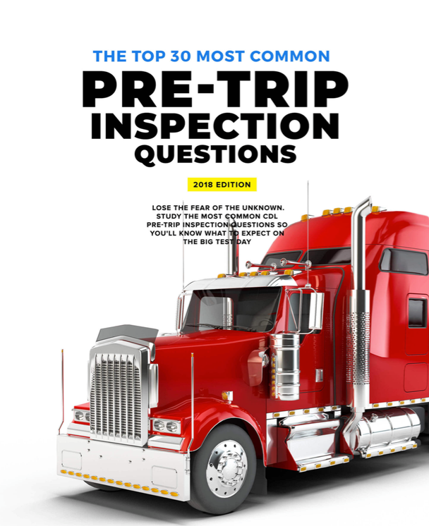 CDL Pre Trip Inspection Questions