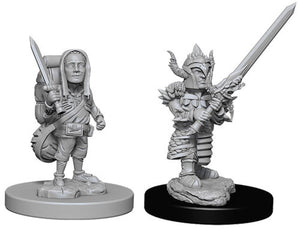 Unpainted Mini - Halfling Male Fighter (5E)