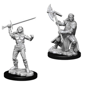 Unpainted Mini - Half-Orc Female Fighter