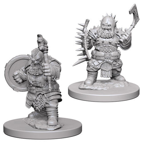 Unpainted Mini - Dwarf Male Barbarian (PF)