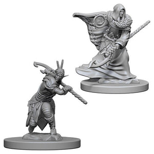 Unpainted Mini - Elf Male Druid (5E)
