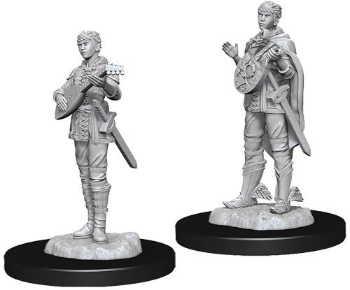 Unpainted Mini - Half-elf Female Bard (5E)