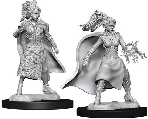 Unpainted Mini - Human Female Sorcerer (5E)