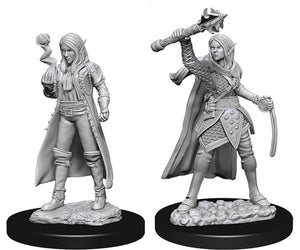 Unpainted Mini - Elf Female Cleric (5E)