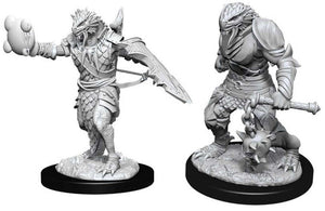 Unpainted Mini - Dragonborn Male Paladin (5e)