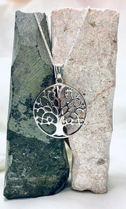 Stainless Steel Tree of Life Pendant