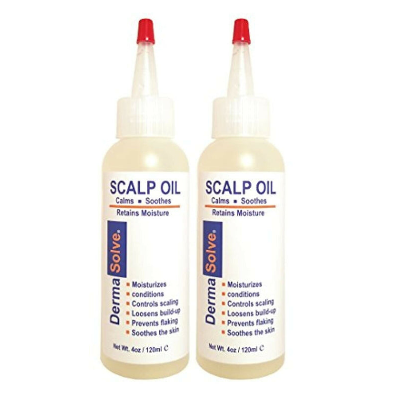 Psoriasis Scalp Oil (2-Pack) Seborrheic Dermatitis Dandruff Relief (4.0 oz Each)
