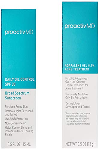 Amazon.com: ProactivMD Adapalene Gel Acne Kit - Complete Retinol Moisturizer and Toner Combo Kit With Deep Cleansing and Exfoliating Acne Face Wash, Balancing Toner, Daily Oil Control With SPF 30: Beauty