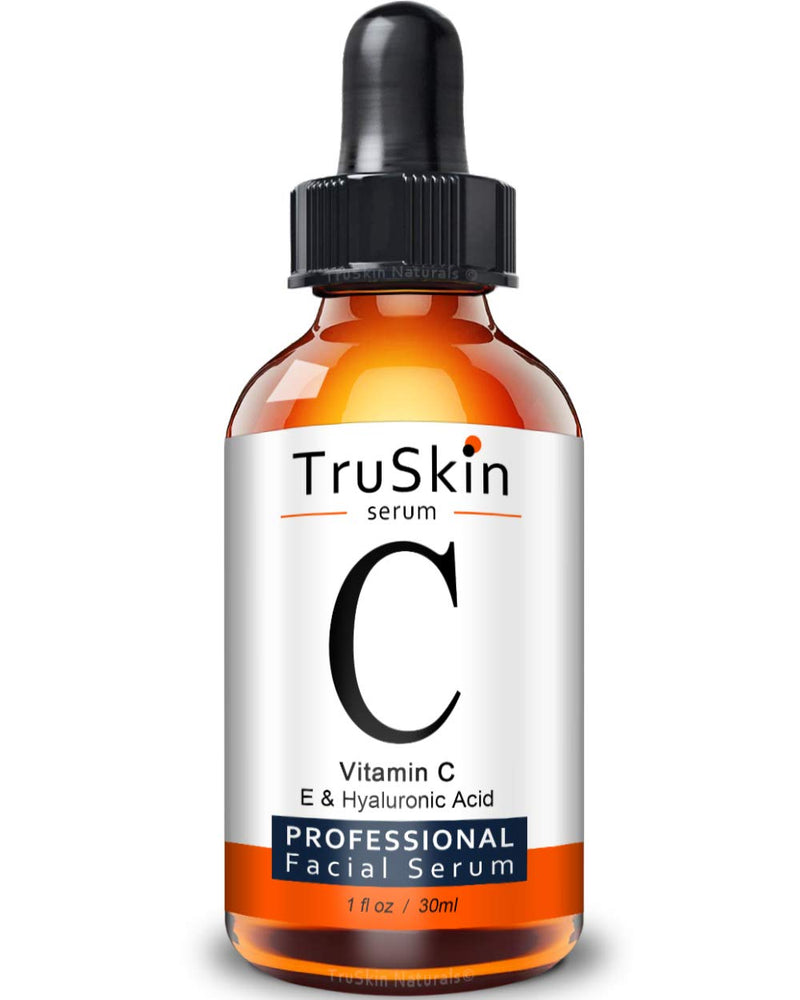 TruSkin Vitamin C Serum for Face with Hyaluronic Acid, Vitamin E, Witch Hazel, 1 fl oz 1 Fl. Oz