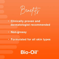 Bio-Oil Skincare Oil, Body Oil for Scars and Stretchmarks, Serum Hydrates Skin, Non-Greasy, Dermatologist Recommended, Non-Comedogenic, 2 Ounce, for All Skin Types, with Vitamin A, E 2 Fl Oz