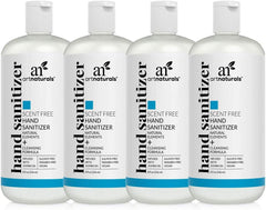 Artnaturals Hand Sanitizer Gel Alcohol Based (4 Pack x 8 Fl Oz / 220ml) Infused with Alovera Gel, Jojoba Oil, Vitamin E - Unscented Fragrance Free Sanitize - GotClearSkin