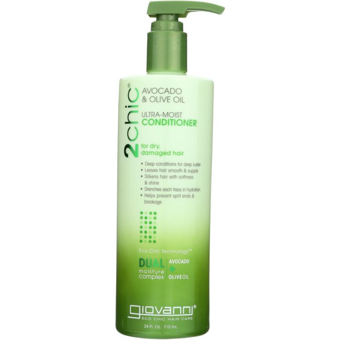 GIOVANNI COSMETICS: 2Chic Avocado & Olive Oil Ultra Moist Conditioner, 24 oz