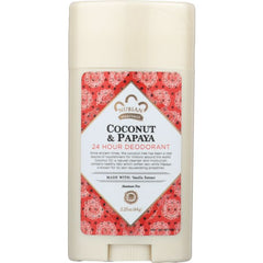 NUBIAN HERITAGE: Coconut and Papaya 24 Hour Deodorant, 2.25 oz