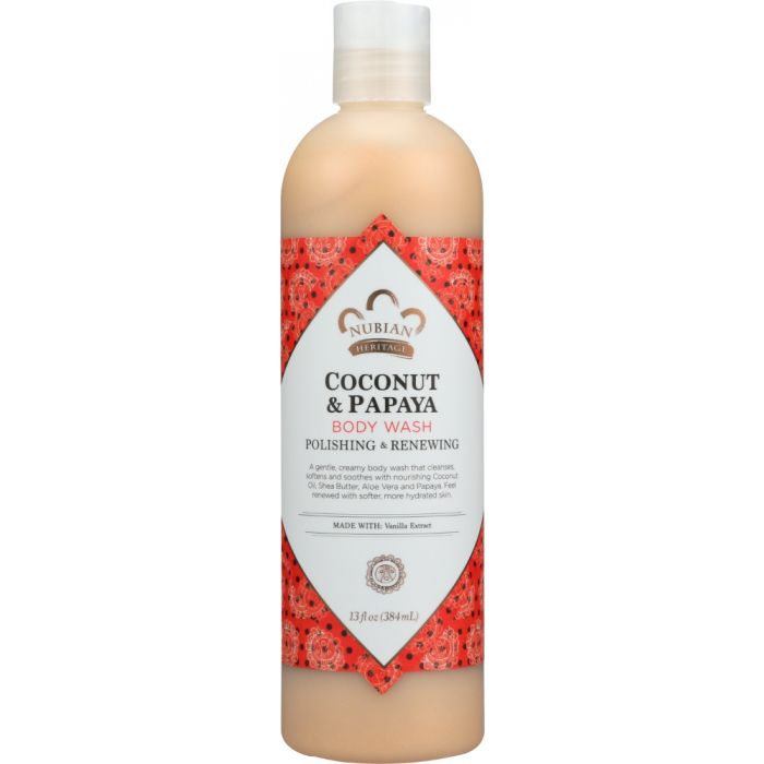 NUBIAN HERITAGE: Body Wash Coconut & Papaya, 13 oz