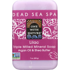 ONE WITH NATURE: Lilac Dead Sea Mineral Soap, 7 oz
