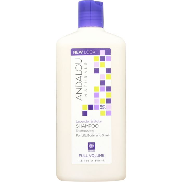 ANDALOU NATURALS: Full Volume Shampoo Lavender and Biotin, 11.5 Oz