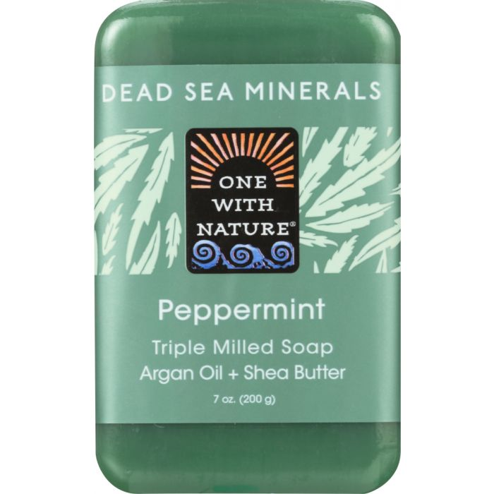 ONE WITH NATURE: Triple Milled Soap Peppermint, 7 oz