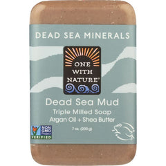 ONE WITH NATURE: Dead Sea Mud Minerals Soap Bar, 7 oz