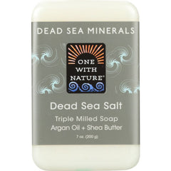 ONE WITH NATURE: Dead Sea Salt Minerals Soap Bar, 7 oz